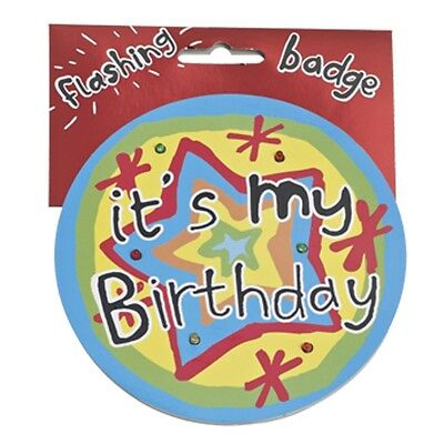 It's My Birthday Jumbo Flashing Party Badge Big Light Up Badges Birthdays