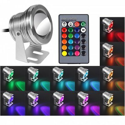10W RGB Marine Boat Fishing Lamp Navigation Underwater Light LED Floodlight