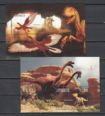 """ Dominica, New Issue. Dinosaurs on 2 s/sheets."