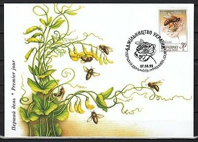 Ukraine, Scott cat. 349. Bee Keeping issue on a First day cover.