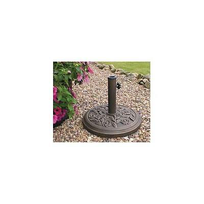 GA221992 PBASE Kingfisher Parasol Base , Cast Iron Effect , 9Kg