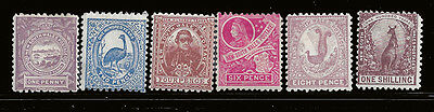 New South Wales stamps 1888 Centenary 1d - 1s (SG253-58) MLH £170