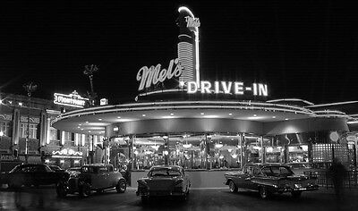 American Graffiti Mels Drive In Black & White Poster  13x19