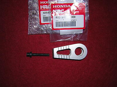 Honda RS125 95-04 Rear Chain Adjuster and Screw. Genuine Honda New