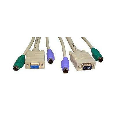 GA100798 KVM Cables for VGA & PS2 Switch Boxes 10 Metres - 1 set