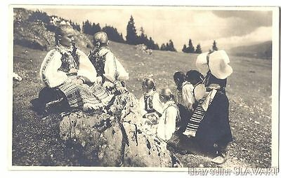 POSTCARD 1927 Slovak Photograph Karol Plicka Easter Helpa children folk costumes