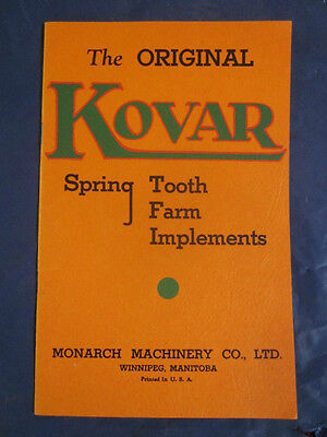 1937  Spring Tooth Farm Implements Brochure