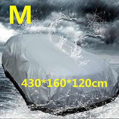 Medium Size Full Car Cover UV Protection Waterproof Outdoor Indoor Breathable BE