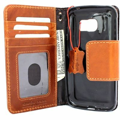Genuine Real Leather Case for Samsung Galaxy S7 active Credit Cards slots Davis