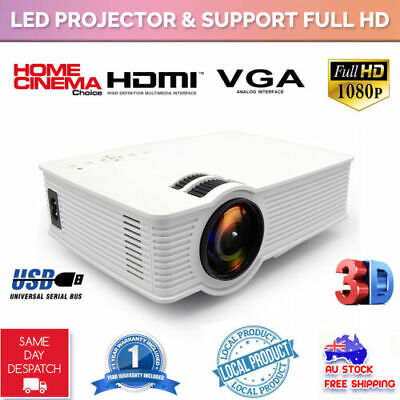 7000 lumens Outdoor LED Full HD Video LCD Projector Home Theatre HDMI USB VGA