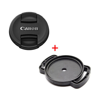 Canon EOS Fit Lens Cap 52mm 58mm 67mm 72mm 77mm Front Snap On + Buckle Holder