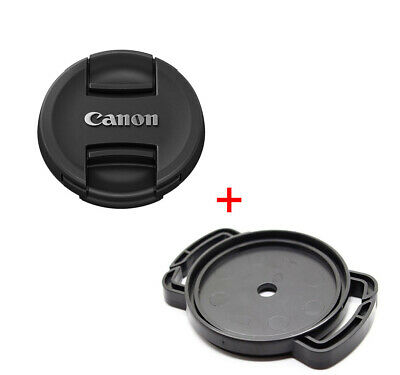 Canon EOS Fit Lens Cap 58 67 72 77 mm Front Snap On + Buckle Holder