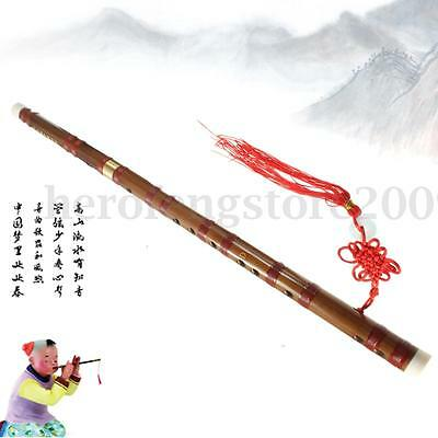 Handmade Traditional Chinese Musical Instrument Bamboo Flute Dizi In D Key + Bag