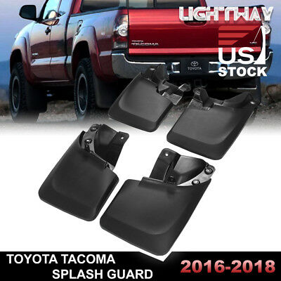 2016-2018 TOYOTA TACOMA Splash Guards Mud Flaps Mudguards Black 4PCS FRONT+ REAR