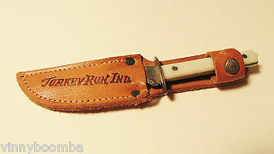 Vintage Hunting Knife Souvenir From Turkey Run State Park Indiana With Sheath !!