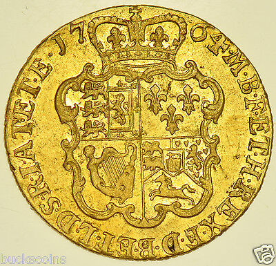 Very Rare 1764 Guinea British Gold Coin From George Iii Gvf