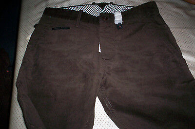 Nwt Diesel Reg-One Cords Corduroy Pants Trousers Brown Size 27