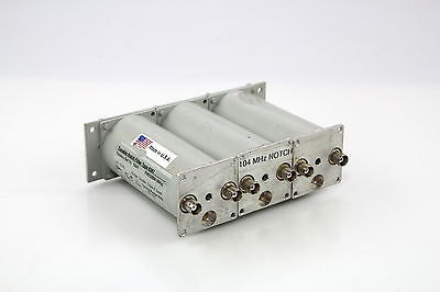 Microwave Filter Type 6367-2 Tunable Notch Filter 3 Cavity 50-108 Mhz