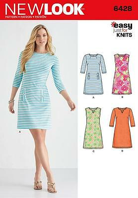New Look Sewing Pattern Misses' Knit Dress Size 8 - 20 6428 A