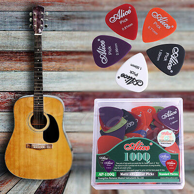 100Pcs Electric Guitar  Acoustic Music Pick Plectrum Assorted Thickness w/ Case