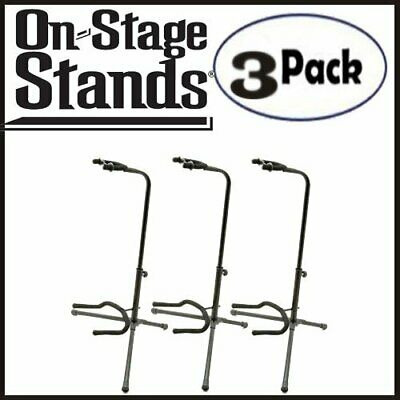 On Stage XCG4 Classic Guitar Fret Rest Single Guitar Stands 3 Pack - AONSXCG4K2