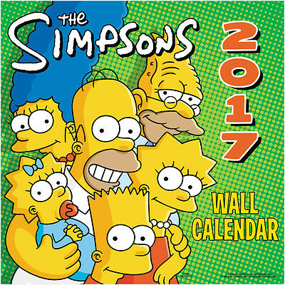 The Simpsons TV Series 16 Month 2017 Wall Calendar NEW SEALED