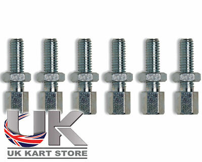 M6 x 30mm Throttle Cable Adjusters Clamps x 6 TonyKart Compkart UK KART STORE