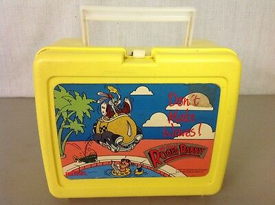 Vintage 1987 WHO FRAMED ROGER RABBIT Yellow Lunch Box