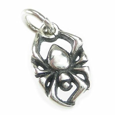 Spider TINY sterling silver charm .925 x 1 Arachnids /& Spiders charms CI300232