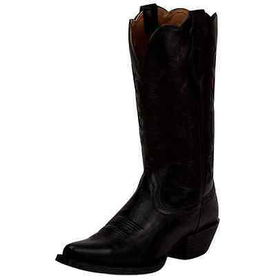 JBL1115 Justin Ladies Farm & Ranch Western Cowboy Boot Black Panther NEW