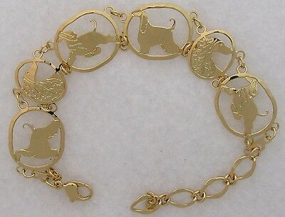 Afghan Hound Jewelry Silver Finish Bracelet by Touchstone Dog Designs