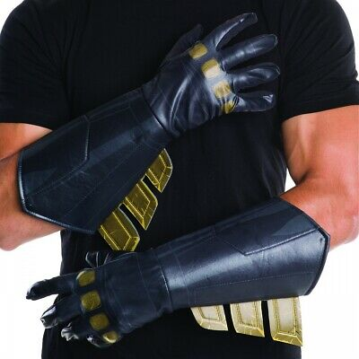 Batman Gauntlets Adult Batman v Superman Costume Gloves Halloween Fancy Dress