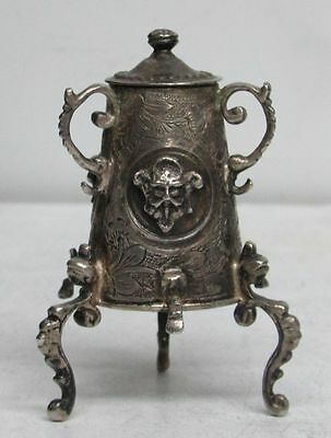 ANTIQUE 19th CENTURY DUTCH .835 SILVER MINIATURE SAMOVAR