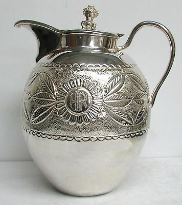 Great Style Peruvian Vintage Silver Water Pitcher
