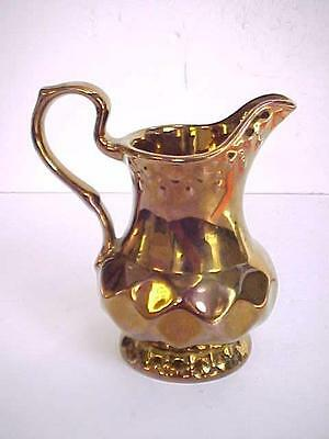 """Antique WADE ENGLAND 4.5"""" PITCHER CREAMER SYRUP COPPER LUSTER"""