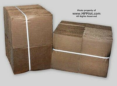 """(200) 5"""" x 7"""" CORRUGATED SHIPPING PADS - TWO (2) BUNDLES LOT - NEW"""