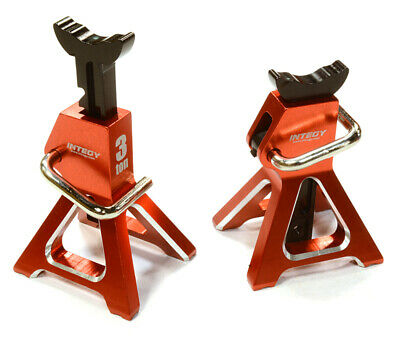 Integy 3 Ton TOY Jack Stands 1/10-1/8 Rock Crawlers Red (2) C26410RED