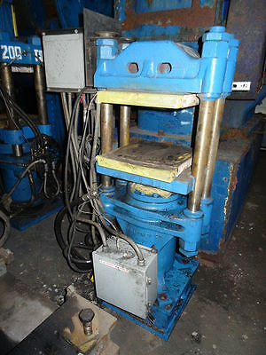 "62.8 Ton FH Maloney 4 Post Molding Press, 16"" X 16""  Electrically Heated Platens"