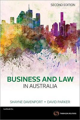 NEW Business and Law in Australia  By Shayne Davenport Paperback Free Shipping