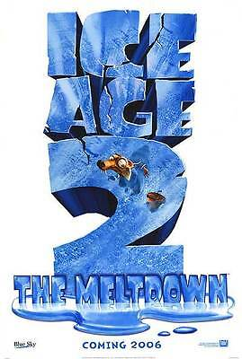 Ice Age 2 The Meltdown Advance Original Movie Poster Double Sided 27x40