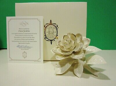 LENOX ROMANCE IN BLOOM ROSE Sculpture  NEW in BOX with COA Flower Bee