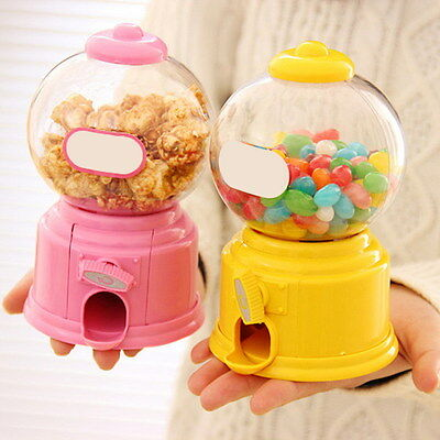 Kids Candy Gumball Machine Saving Coin Bank Retro Sweet Mini Candy Toy Dispenser