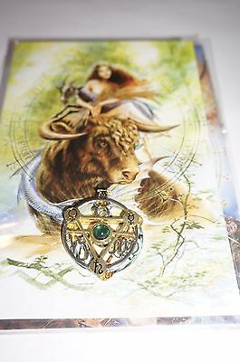 Earth Elemental Talisman with Card Jewelry zodiac Signs Taurus Virgo & Capricorn