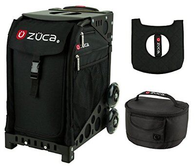 Zuca Sport Bag - Obsidian with gift Lunchbox and Seat Cover (Black)
