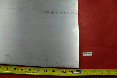 "1/4"" x 12""x 12"" ALUMINUM 6061 Sheet Plate .250"" Thick T6 New Flat Mill Bar Stock"