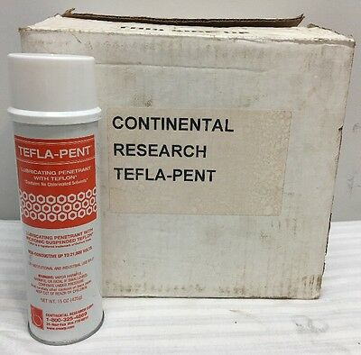 Tefla-Pent Lubricating Penetrant With Teflon~ Lot Case Qty Of 12 - 15Oz Cans