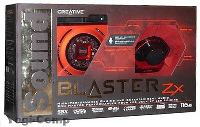 Creative Sound Blaster Zx SBX PCIE Gaming Sound Card + Audio Control Module