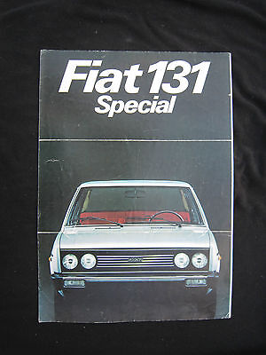 AC527 CATALOGUE DEPLIANT PUB FIAT 131 4 pages ETAT MOYEN