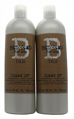 Tigi Duo Pack Bed Head For Men Clean Up 750Ml Shampoo + 750Ml Conditioner. New