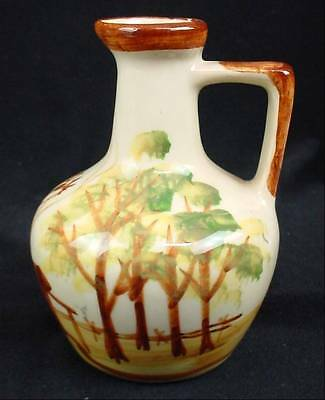 Small Vintage Hand Painted Pottery Jug Pitcher VT MAPLE SYRUP Vermont USA